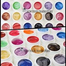 12 шт. смесь цветов Жемчуг УФ гель для наращивания ногтей Набор для творчества Типсы Профессиональный AcrylicNail УФ-гель набор