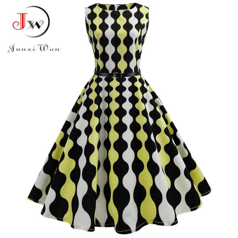 7b12993e914 ... Женское летнее платье с цветочным принтом Хепберн 50 s 60 s ретро  качели винтажное платье А ...