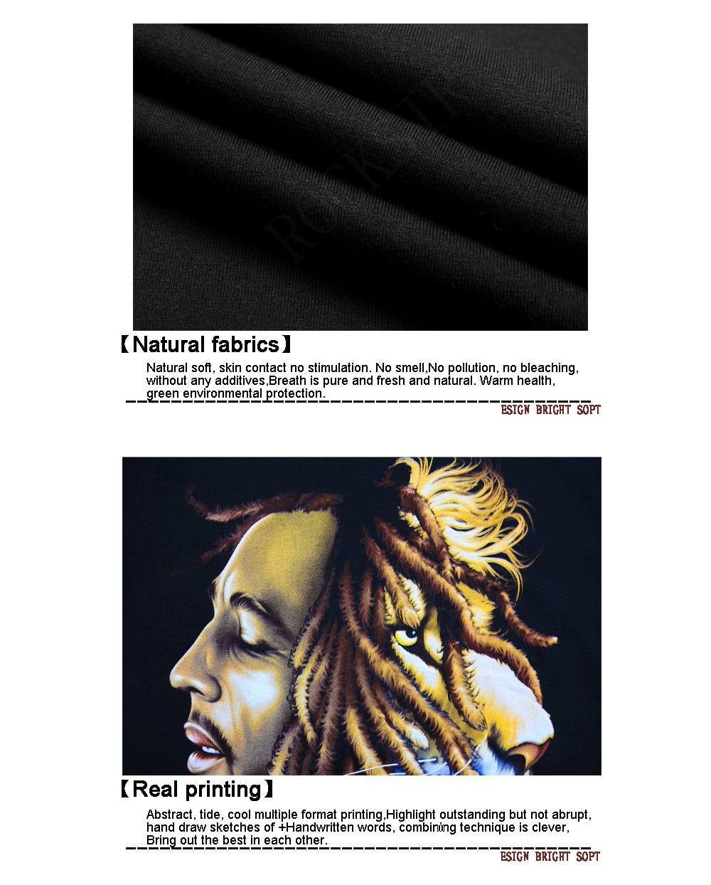 Hochwertige D Bedruckte T Shirt Fur Manner Bob Marley Zitate Musik Reggae Rastafari Kurzarm T Shirt Fashion Casual Tops Camiseta In Hochwertige D