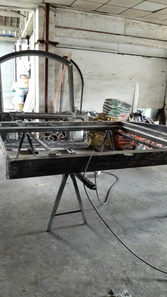 Portes en bois et fer forgé portes avant en bois avec verre et fer forgé - 3
