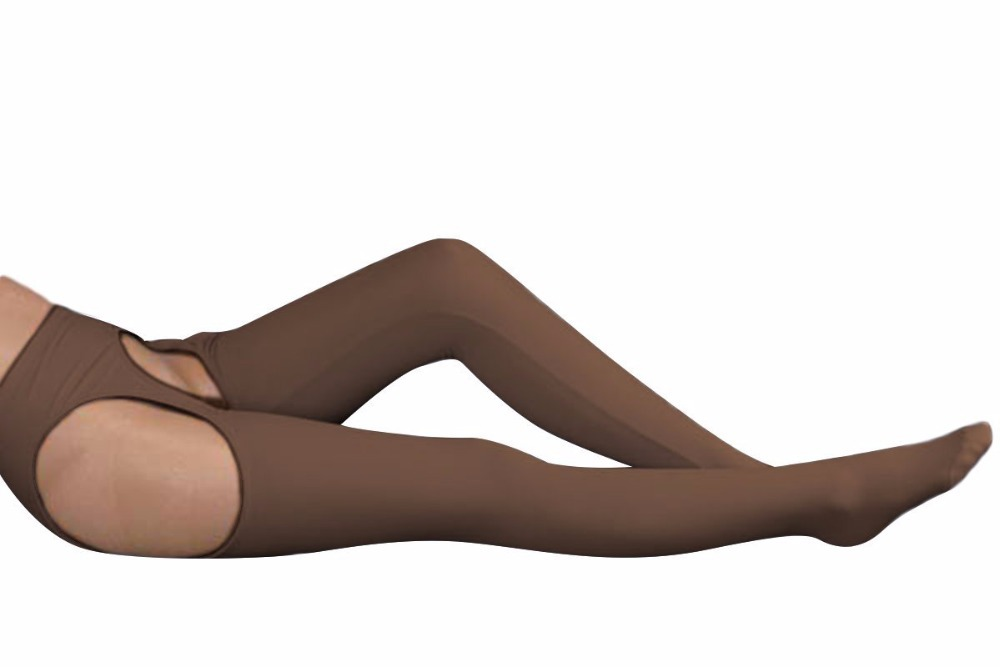 Brown Lycra Spandex Womens Tight Belt Sexy Zentai Stocking Halloween Party Cosplay Zentai suit