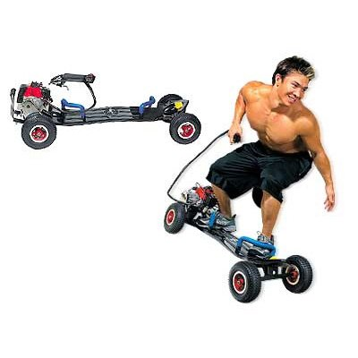 Gas powered skateboard motor scooter 49cc motorized 2 stroke