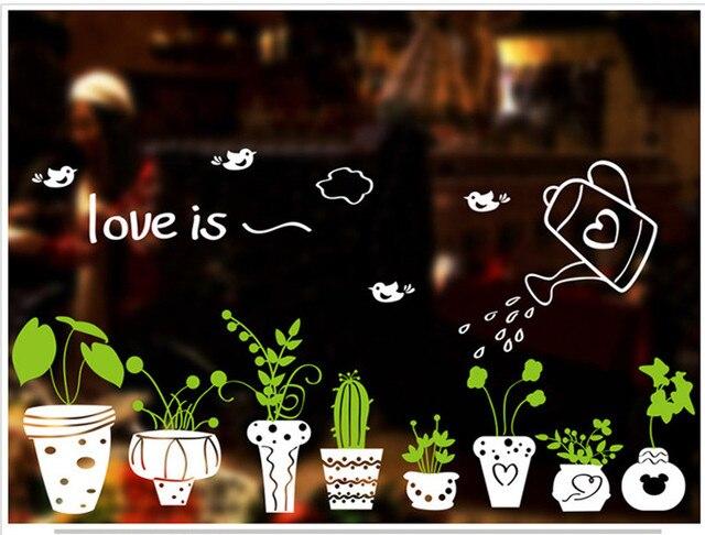 Planten Slaapkamer Baby : 1 stks plant bonsai muursticker woondecoratie decals behang raam
