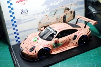 SPARK 1/18 2018 Le Mans GT Diecast Metal Car model PorscheDAL 911 RSR #92 Pink Alloy car model toy With Original Box