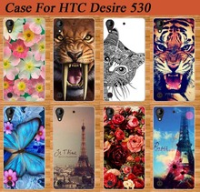 Fashion 14 Stylish Cute Animals Printed Case For HTC Desire 530 Brilliant Painting Rose Flower Paint Best For HTC 530 case cover
