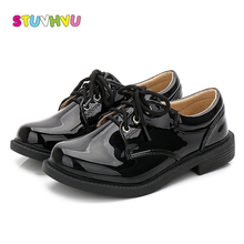 Boys shoes white black patent leather shoes fashion brand ch