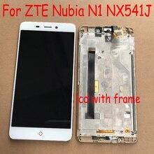 100% מקורי עבודה חיישן LCD תצוגת לוח מגע מסך Digitizer עצרת + מסגרת עבור ZTE נוביה N1 NX541J טלפון Pantalla