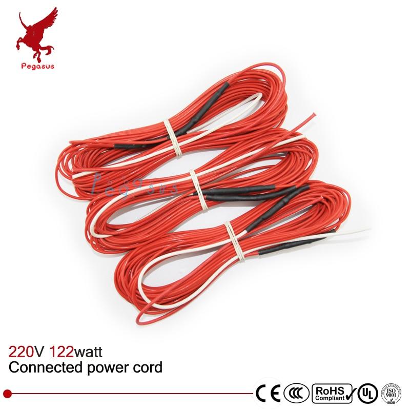 F12K 12meters 122w 33ohm Carbon fiber heating wire PTFE Teflon ...