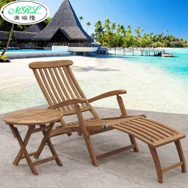Outdoor teak wood recliner chairs lying bed pool clubhouse balcony garden Villa & Outdoor teak wood recliner chairs lying bed pool clubhouse balcony ... islam-shia.org