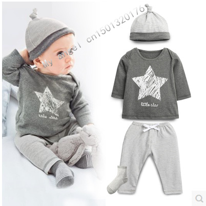 Wasailong-New-Spring-and-autumn-baby-boy-clothes-100cotton-3pcs-Hat-T-shirt-pants-The-stars-leisure-baby-boys-clothes-1