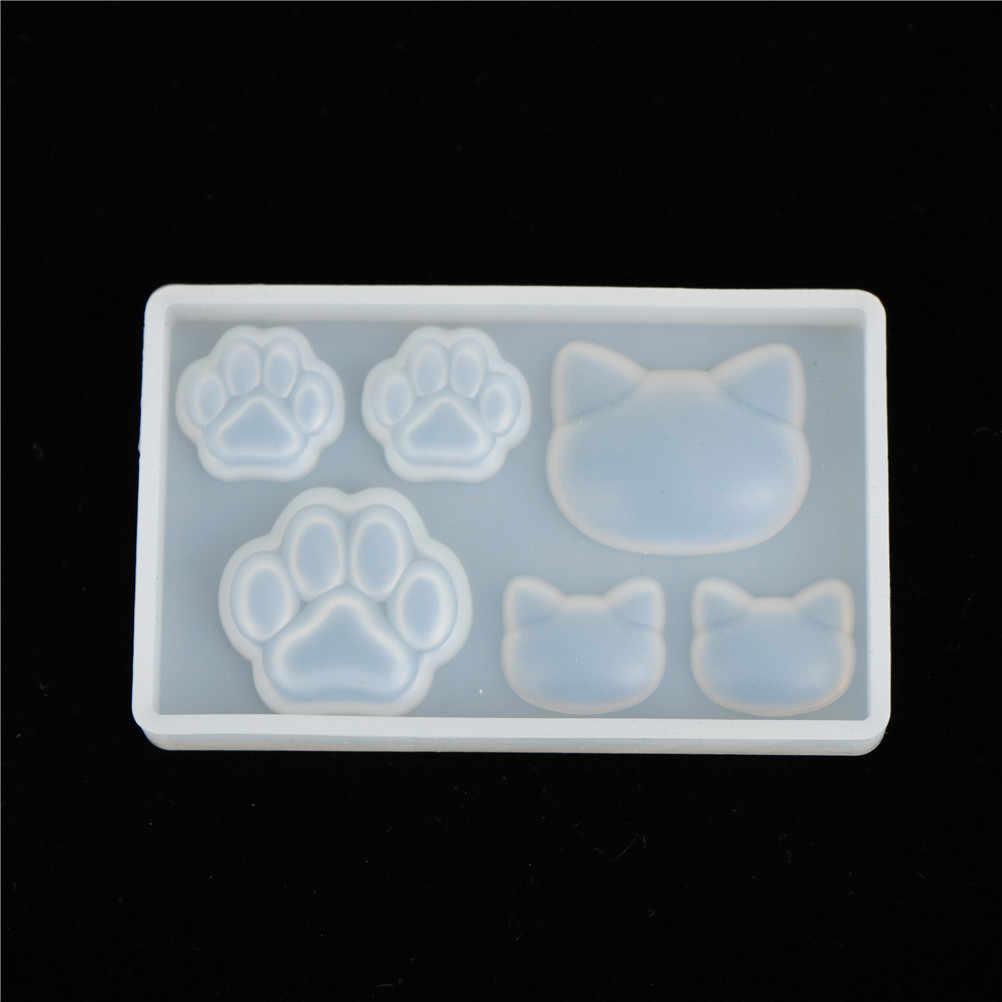 1 قطعة DIY بها بنفسك دلاية من الراتنج قلادة قلادة قالب الراتنج قوالب القط القط مخلب القمر نجمة القلب السائل قالب من السيليكون
