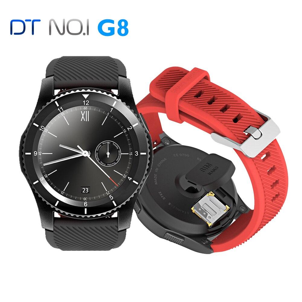 imágenes para [EN STOCK] No. 1 G8 Smartwatch Bluetooth 4.0 SIM Llamada Mensaje Recordatorio Pulsómetro Inteligente acecha Para Android y Apple