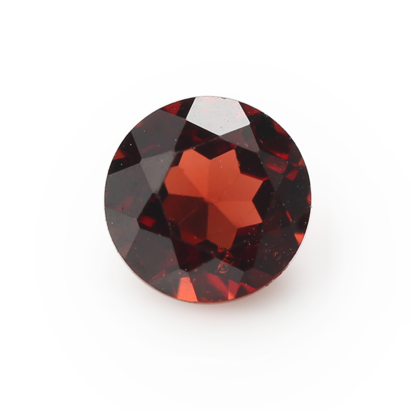 50PCS Size 1.0mm~10.0mm Loose Gems stone Wholesale Natural mechine cut Round Loose Natural Garnet