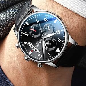 Image 4 - Man Wrist Watch 2019 Luxury Brand Men Watch Male Clock Business Classic Quartz Sport Chronograph Watch For Men Relogio Masculino