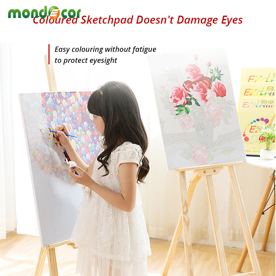 Living Room Poster DIY Digital Painting Children 39 s Fun Hand painted Decorative Painting Canvas Laminas Decorativas Pared Cuadros in Painting amp Calligraphy from Home amp Garden