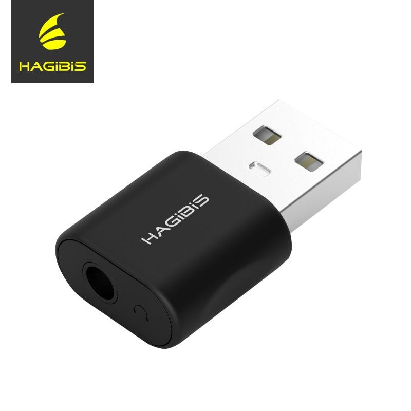 Hagibis USB External Sound Card Converter USB to Jack 3.5mm Headphone Audio Adapter Mic Sound Card for PC Laptop Audio adapter
