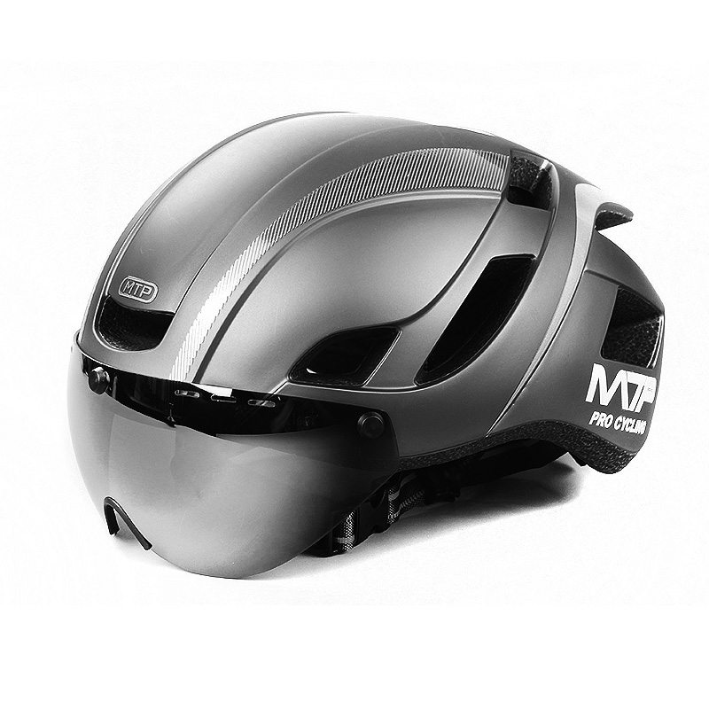 Mountainpeak Magnetic Suction Bicycle Helmet And Helmet Lens Integrated In Mountainous Highway Safety Cycling Helmet Equipment