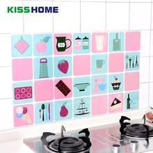 45cm*75cm Kitchen Wall Stickers Aluminium Foil Oil Home Decor Waterproof Prevent Lampblack Sticker Art Decorations Supplies