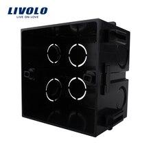 Livolo Бесплатный выбор, черный пластик, Великобритания Стандартный внутренний монтажный ящик для 86 мм* 86 мм стандартный настенный светильник переключатель