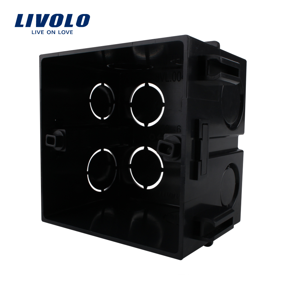 Livolo Free Choose, Black Plastic Materials,  UK Standard Internal Mount Box For 86mm*86mm Standard Wall Light Switch