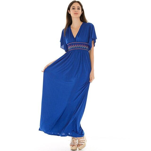 46de810a800 Robe femme ete décontracté Boho femmes été longue plage Robe grande taille  taille 6XL Maxi Robe