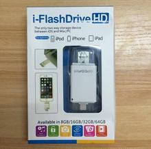 2 in1 I-FlashDrive интеллектуальному мобильному Micro USB накопитель Lightning/OTG USB флэш-накопитель для iPhone 5 /5S/5C/6/6 S Plus/Ipad флешки PG1