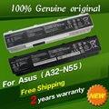 O envio gratuito de bateria do laptop original para asus n45sl n45sv n55e N55S N55SF N55SL N75 N75E N75S N75SF N75SJ N75SL N75SN N75SV