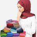 16 Цветов Длинные Сплошной Тонкий Шарф для Женщин Мусульманского Хиджаба Джерси Одежда Аксессуары Украл Пашмины Моды Шали Палантины Шарф S3964