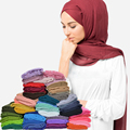 Women Ladies Fashion Long Solid Spring Soft Comfy Thin Scarf Muslim Hijab Jersey Accessories Stole Pashmina Shawl Wraps S3964