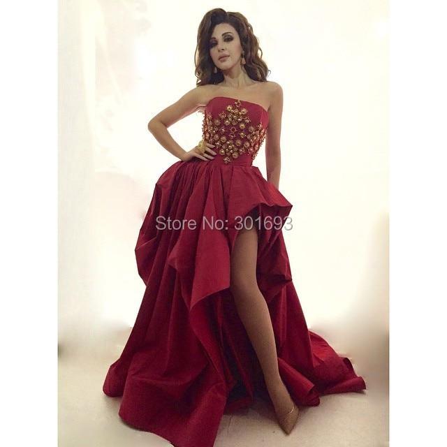 Popular Short Gold and Burgundy Prom Dress-Buy Cheap Short Gold ...