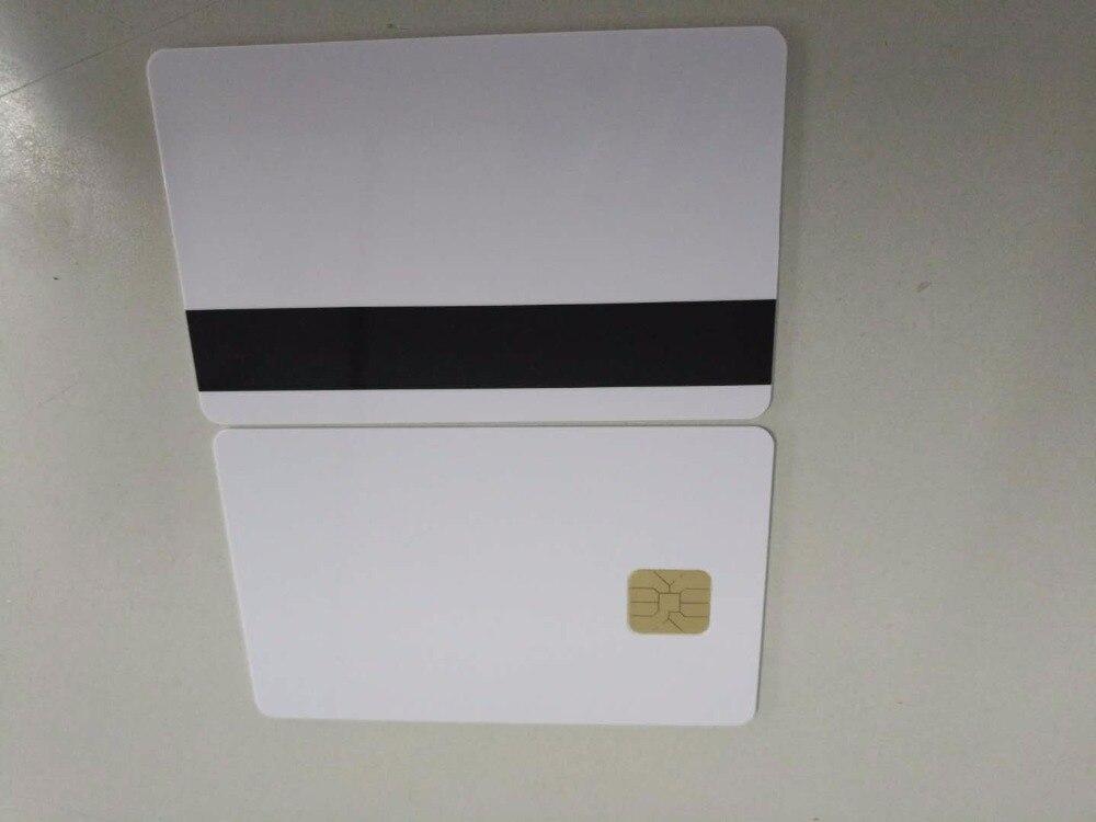 10 pz/lotto Bianco Contatto Sle4442 Smart Chip IC Scheda In PVC Bianco con 2750 OE Hi-Co Banda Magnetica10 pz/lotto Bianco Contatto Sle4442 Smart Chip IC Scheda In PVC Bianco con 2750 OE Hi-Co Banda Magnetica