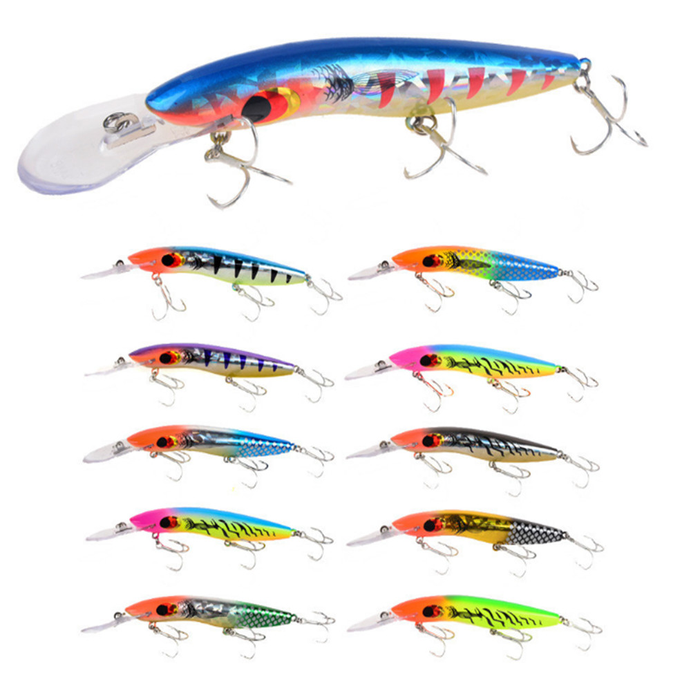Deep Diving Sea Fishing Lure Minnow Wobbler Hard Bait Crankbait With Hook New