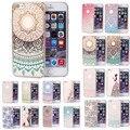 Qualidade superior do vintage colorido pc hard case capa da pele para o iphone 6 plus/6 s plus 5.5 polegadas jan09