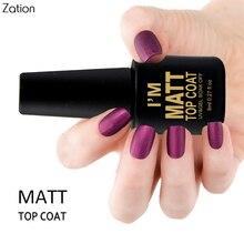 Матовое верхнее покрытие для дизайна ногтей УФ светодиодный Гель-лак для ногтей отмачиваемый Матовый верхний слой Гель-лак прозрачный маникюрный лак