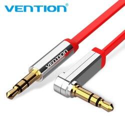 Vention 3.5 مللي متر جاك كابل الصوت 3.5 الذكور إلى كابل موصل ذكر الصوت 90 درجة زاوية الحق كابل مساعد ل سيارة سماعة MP3 /4 Aux الحبل