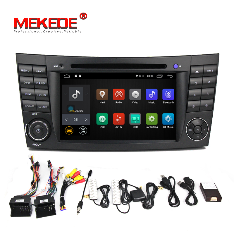 Android 7.1.1! 2g RAM 7 pouce Lecteur DVD de Voiture Pour Mercedes/Benz/E-Classe/W211/E200 /E220/E300/E350 Quad Core Wifi 4g USB GPS Radio