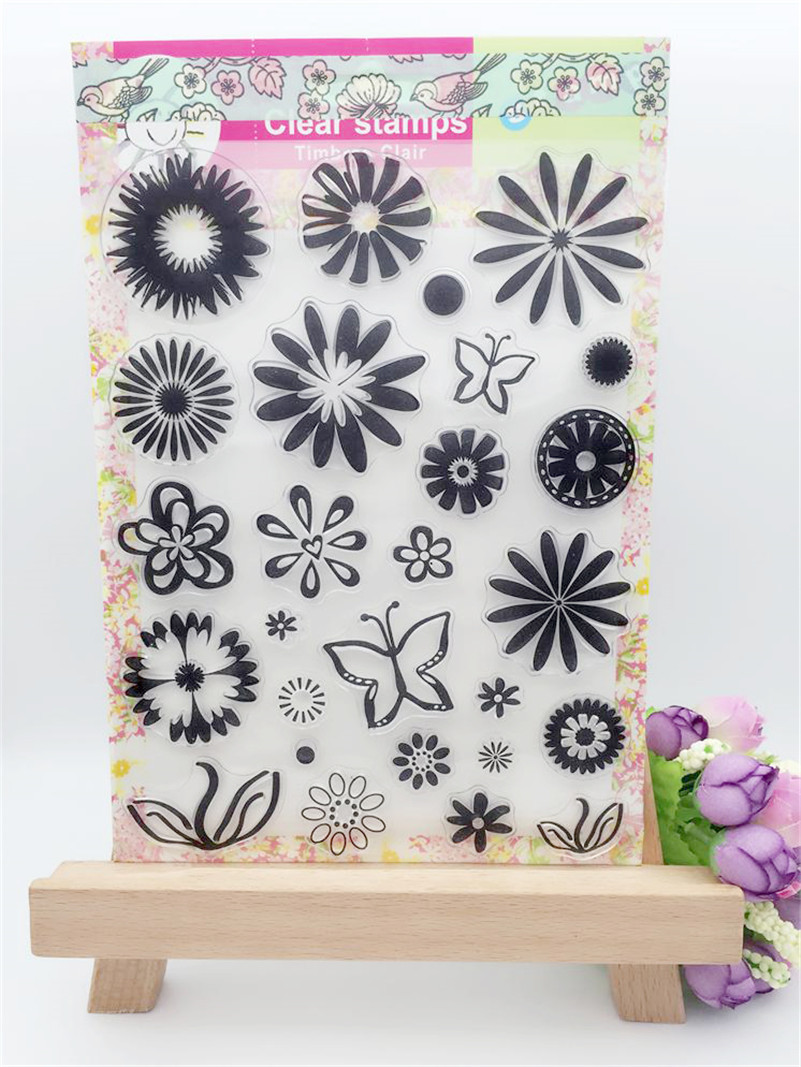 snow and flowers design clear silicon stamps scrapbooking stamp for kids diy paper card  wedding gift poto Album CL-175