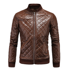 Leather Jacket Men's 2016 New Style Winter Casual Comfortable Handsome Solid Color High Fabric Elegant Clothing