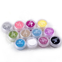 BK Brand Nail Craft Loose Glitter Powder Dust Sequins For Decoration Acrylic Paillette Nail Polish Art Vtirka Nails Tips Pigment