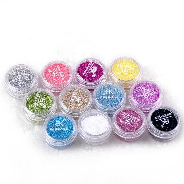 BK Marque Nail Craft Lâche Glitter Powder Dust Paillettes Pour La Décoration Acrylique Paillette Vernis À Ongles Art Vtirka Ongles Conseils Pigment