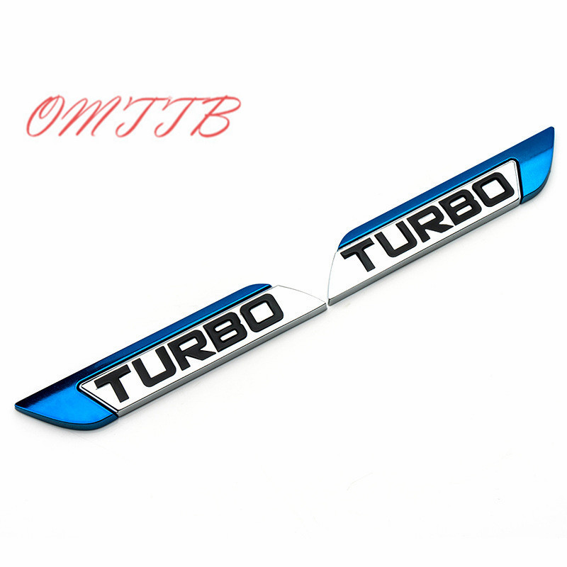 3D Metal TURBO Emblem Sticker Body Rear Tailgate Badge Car cover For Ford Focus 2 3 ST RS Fiesta Mondeo Ecosport Car Styling