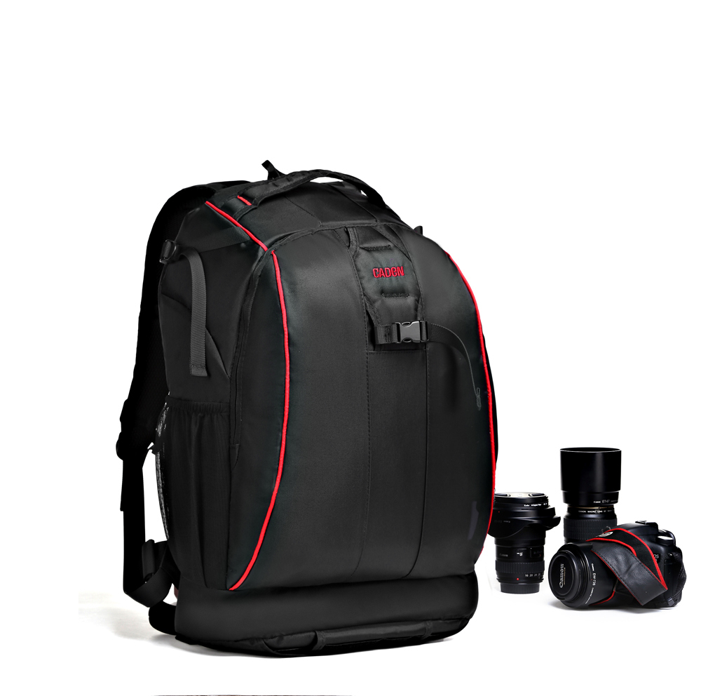 Caden Top Quality Trendy Cheap Large Capacity Nylon Waterproof Custom Camera Backpack For DSLR Laptop Tablet PC