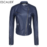 BERRY BOOM 2016 Hot SALE Fashion Faux Leather Jacket Motorcycle Jacket Brand Jacket Women Bmber Jcket