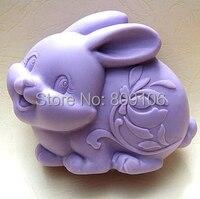 Hurtownie/detaliczna, bezpłatna wysyłka, wielkanoc królik Zodiak gliny ceramiki formy ręcznie mydła silikonowe formy do pieczenia ciasto formy