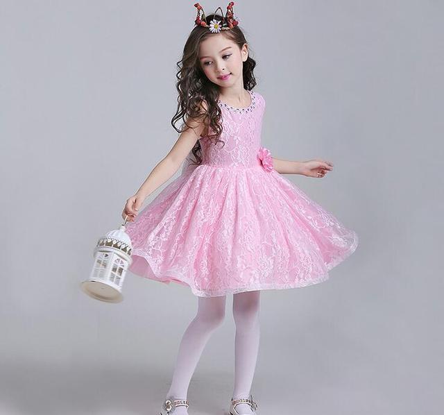 c038698e8f Glizt Girls Wedding Dress Sequin Children Birthday Clothes Baby Girls White Pink  Tulle Bow Girl First Communion Dress