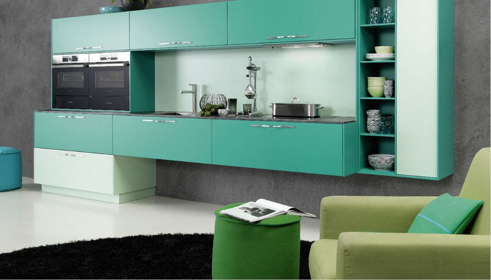 US $150.0  2017 antique armadi da cucina di design moderno mobili per  cucina verde unità di cucina modulare armadio da cucina pensili-in  Accessori e ...
