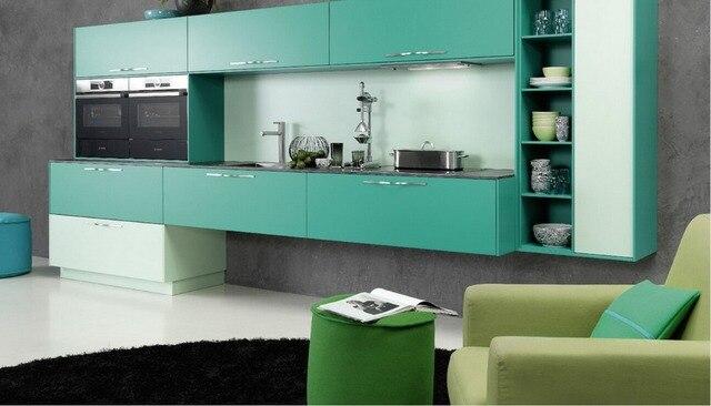 € 135.9 |2017 gabinetes de cocina de diseño antiguo muebles modernos para  cocina verde modular unidad de cocina armario de cocina en Partes y ...