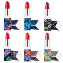 1PC Lipstick maquiagem Matte Waterproof Velvet Lip Stick Sexy Red Pigments Makeup Beauty Lips