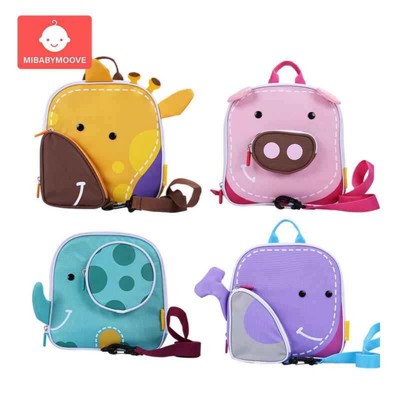 Cartoon Child Safety Harness Backpack Toddler Infant Harness Rein Keeper Backpack Anti-Lost Kids Adjustable Baby Walking Wings
