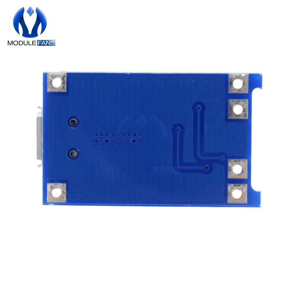 18650 carregador de bateria de lítio fonte de alimentação micro usb módulo tp4056 placa de proteção de carregamento com funções duplas 5 v 1a
